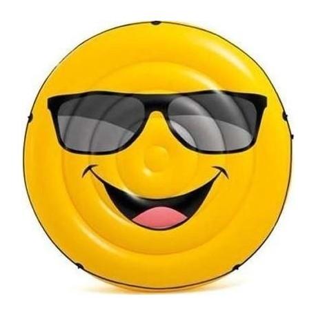 Flotador Inflable Emoji Intex Cool Island Cara Feliz 57254