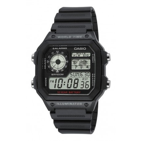 Reloj Casio Ae1200whd Original Resistente Agua Garantía (Entrega Inmediata)