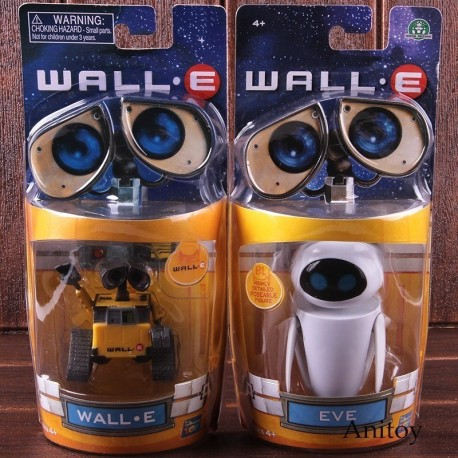 Juguete Wall.e 7 Cm Y Eve 9 Cm Robot Colección En Caja Pvc (Entrega Inmediata)