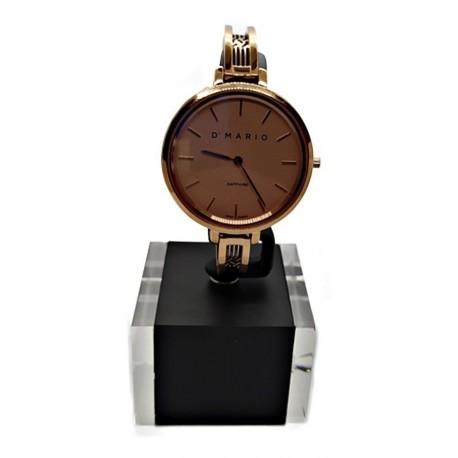 Reloj D' Mario Fg1662 Para Dama Acero Oro Rosa Original (Entrega Inmediata)