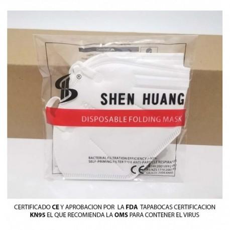 Tapaboca Shen Huang Kn95 Original Certificado Ce 95% Filtro