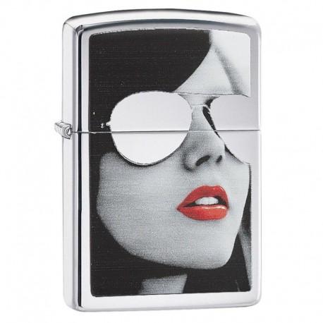 ¡ Zippo Stamp Naughty Lighter Bs Sunglasses High 28274 !!