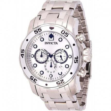 Reloj Hombre Invicta Pro Diver Cronografo Plateado 0071