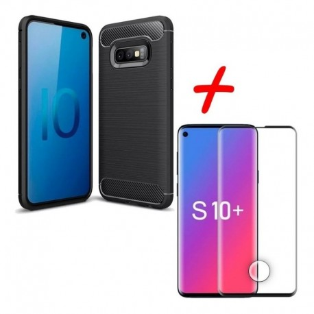 Estuche + Vidrio Templado 3d Full Pegante Samsung S10 (Entrega Inmediata)