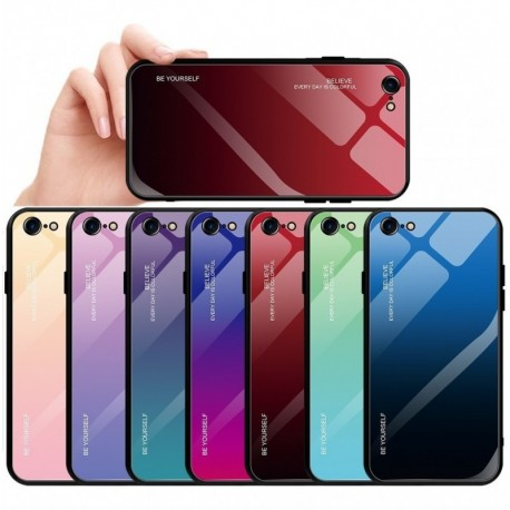 Estuche Funda Bicolor iPhone 6, 7, 8, 7plus, 8plus + Vidrio
