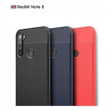 Estuche Funda Cuero Lujo Xiaomi Redmi Note 8 + Vidrio