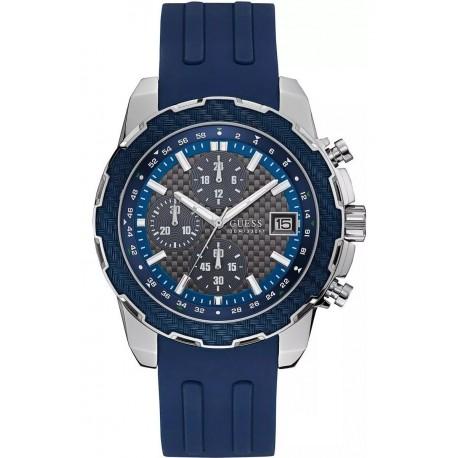 Reloj Guess W1047g2 Caucho Azul Hombre (Entrega Inmediata)