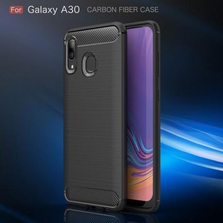 Estuche Funda Protector Fibra Carbono Samsung A20 / A30