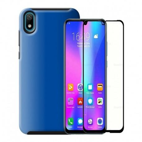 Estuche Reforzado + Vidrio Templado 5d Huawei Y5 2019 (Entrega Inmediata)
