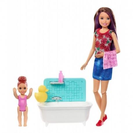 Barbie Skipper Niñera Hora De Baño Mattel Fxh05 Muñeca (Entrega Inmediata)