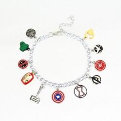 Pulsera Vengadores Escudos Iron Man Y Demás Aleación De Zinc (Entrega Inmediata)