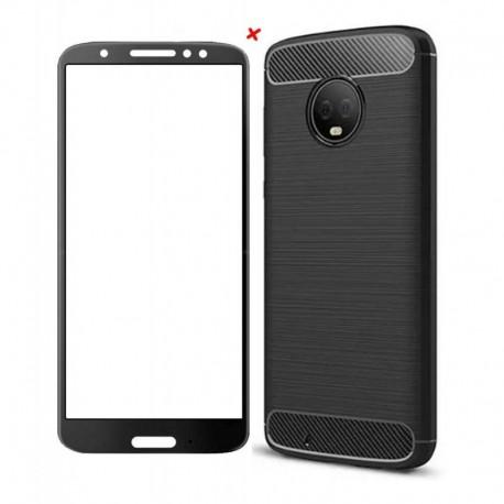Funda Estuche + Vidrio 2,5d Motorola Moto G6 - G6 Plus (Entrega Inmediata)