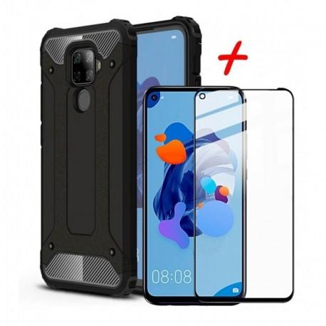 Estuche Reforzado + Vidrio Templado 5d Huawei Mate 30 Lite (Entrega Inmediata)