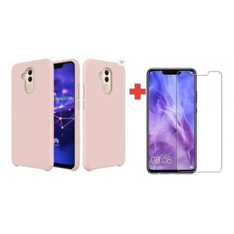 Silicone Case + Vidrio Templado 2d Huawei Mate 20 Lite (Entrega Inmediata)