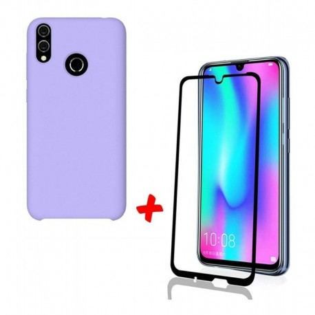 Silicone Case + Vidrio Templado 5d Huawei P Smart 2019 (Entrega Inmediata)