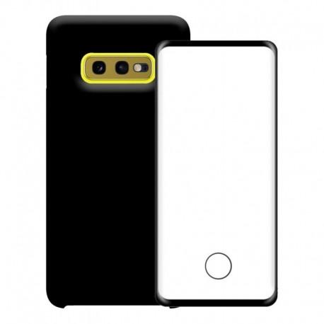 Silicone Case + Vidrio Templado 3d Samsung S10 - S10+ Plus (Entrega Inmediata)