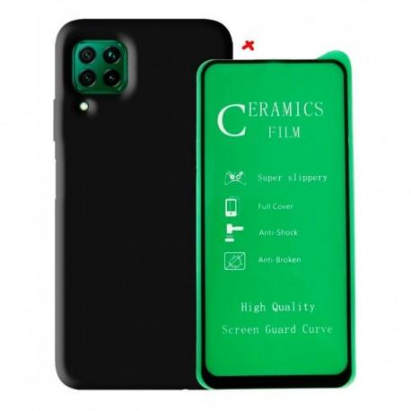 Funda Estuche Silicone Case + Vidrio 5d Huawei P40 Lite (Entrega Inmediata)
