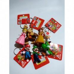 Mario Bros Llaveros X 7 Donkey Kong Yoshi Toad Pvc (Entrega Inmediata)