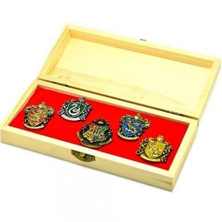 Harry Potter Pin Caja Escudos Hogwarts Y Casas Harry Potter (Entrega Inmediata)
