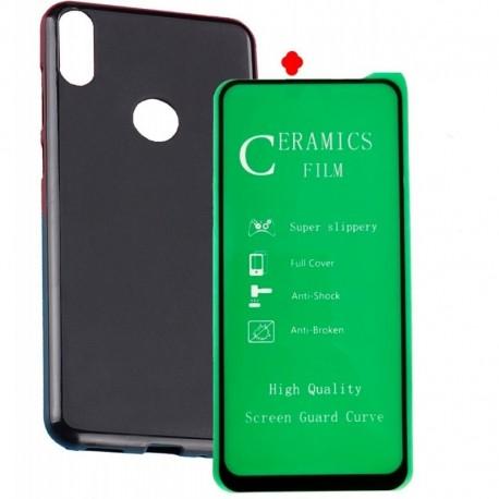 Funda Estuche + Vidrio Cerámico Full Cover Huawei Y7 P (Entrega Inmediata)