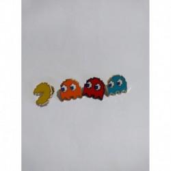 Pacman Pin Broche Metálico X 4 - Clyde - Inky - Blinky - Pac (Entrega Inmediata)