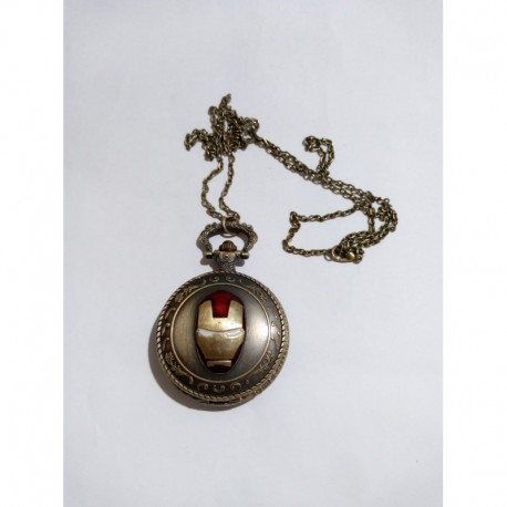 Iron Man Reloj Collar (Entrega Inmediata)