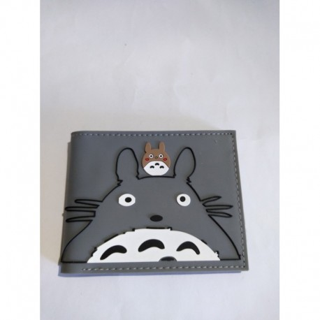 Mi Vecino Totoro Billetera Gris Pvc Flexible (Entrega Inmediata)