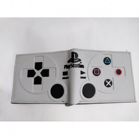 Playstation Billetera Con Forma De Control Gris Pvc Flexible (Entrega Inmediata)