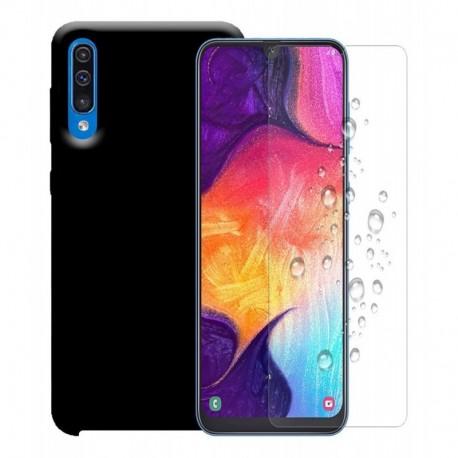 Funda Estuche Silicone Case + Vidrio 2d Templado Samsung A50 (Entrega Inmediata)