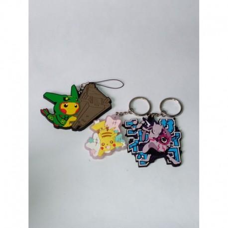 Pokemon Llaveros Pikachu Rayquaza Mewtwo Pvc Flexible (Entrega Inmediata)