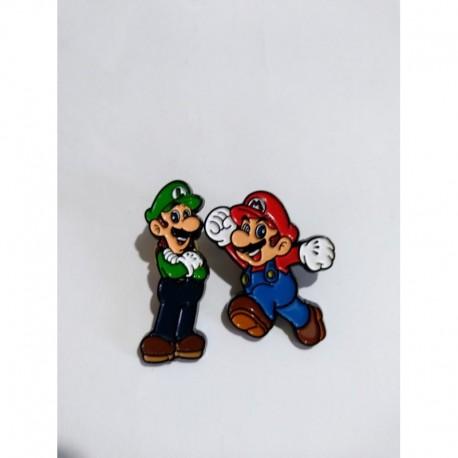 Mario Bros Pin Broche Metálico X 2 - Mario - Luigi (Entrega Inmediata)