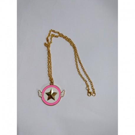 Sakura Card Captor Collar Estrella Metálico (Entrega Inmediata)