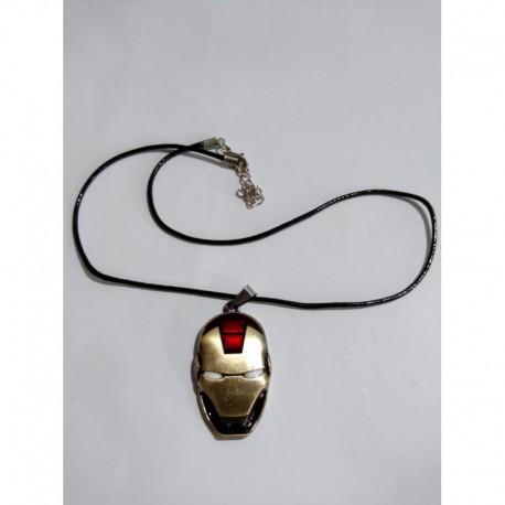 Avengers Collar Cabeza Iron Man Metálico (Entrega Inmediata)