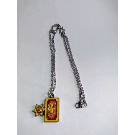 Sakura Card Captor Collar Carta Clow Metálico (Entrega Inmediata)
