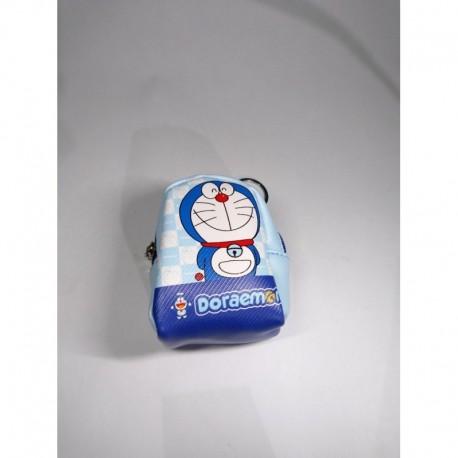 Doraemon Totoro Monedero En Cuerina Con Cremallera (Entrega Inmediata)