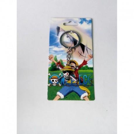 One Piece Llavero Jolly Roger Metálico (Entrega Inmediata)