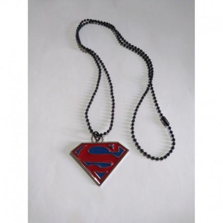 Superman Collar Logo Metálico (Entrega Inmediata)