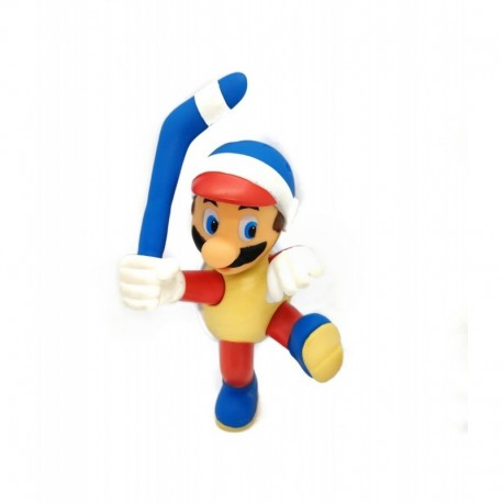 Super Mario Bros Mario Hockey Figura En Bolsa (Entrega Inmediata)