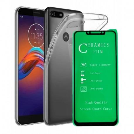 Estuche Clear + Vidrio Templado 5d Full Motorola E6 Play (Entrega Inmediata)
