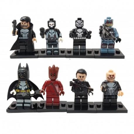 Super Heroes Punisher Colección 8 Figuras Armables En Bolsa (Entrega Inmediata)