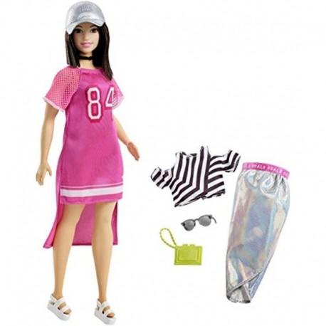 Barbie Fashionistas 101 Curvy Vestido Fucsia Mattel Fry81 (Entrega Inmediata)