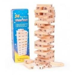 Torre Tipo Jenga Madera Bloques Juego 54 Fichas 2307-100 (Entrega Inmediata)