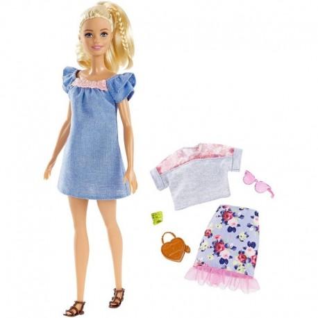 Barbie Fashionistas Rubia 99 Accesorios Mattel Fry79 Niñas (Entrega Inmediata)
