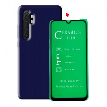 Funda Estuche + Vidrio Ceramico Xiaomi Redmi Note 10 Lite (Entrega Inmediata)