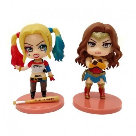 Dc Comics Harley Quinn & Wonder Woman Figuras En Bolsa (Entrega Inmediata)