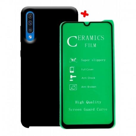 Funda Estuche Silicone Case + Vidrio 5d Templado Samsung A50 (Entrega Inmediata)