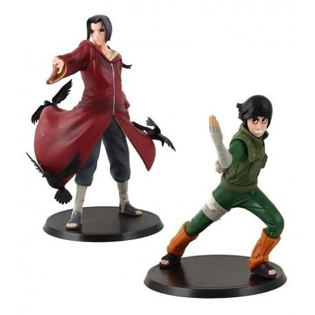 Naruto Itachi Vs Rock Lee Colección X 2 Figuras (Entrega Inmediata)