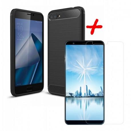 Funda Estuche + Vidrio Asus Zenfone 4 Max Plus M1 5,7 PuLG (Entrega Inmediata)