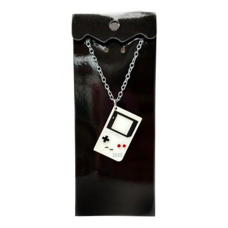 Nintendo Game Boy Blanco Collar Cadena Metálica (Entrega Inmediata)