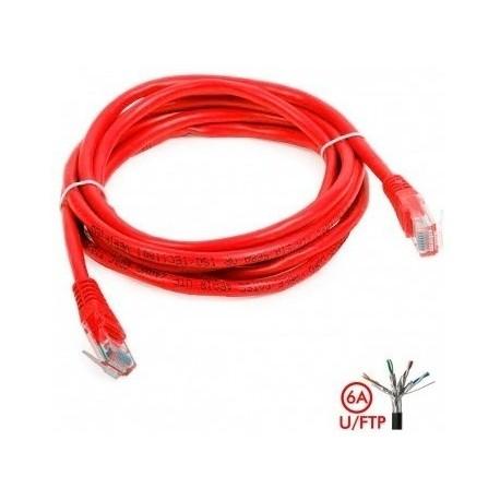 Patch Cord Cat 6a U/ftp Powest 10ft (3m) Rojo (Entrega Inmediata)